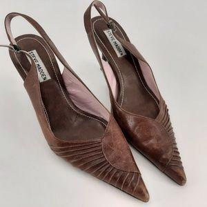 Steve Madden Cherish leather slingback Heels